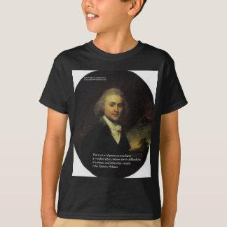 """John Q Adams """"Patience"""" Wisdom Quote Gifts & Mugs T-Shirt"""