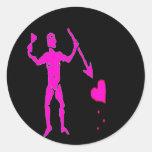 John Quelch-Pink Round Stickers