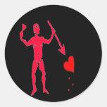John Quelch-Red Round Stickers