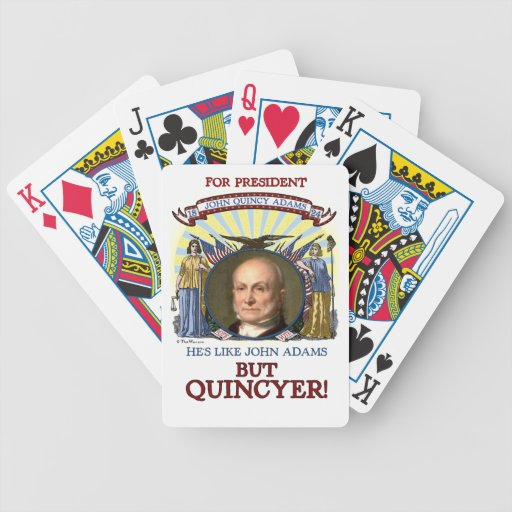 John Quincy Adams 1824 Campaign Bicycle Playing Cards