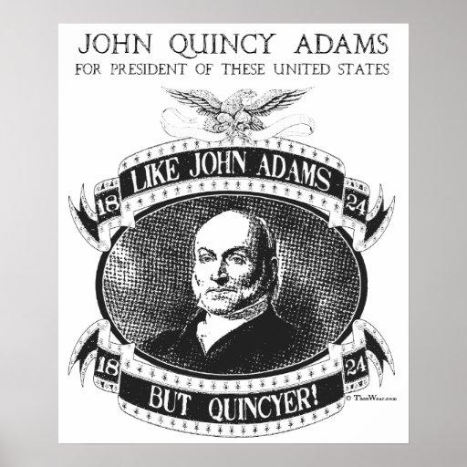 John quincy adams 1824 campaign poster zazzle