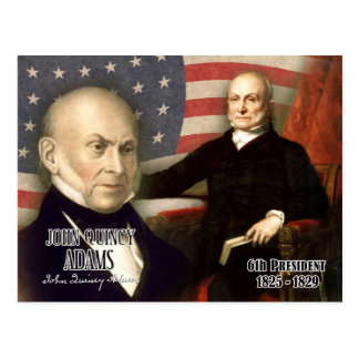 John Quincy Adams - 6th President of the U.S. Postcard