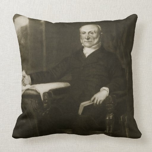 John Quincy Adams, 6th President of the United Sta Throw Pillows