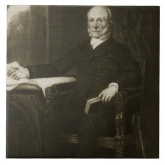 John Quincy Adams, 6to presidente del Sta unido Azulejo Cuadrado Grande