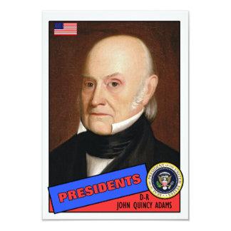 John Quincy Adams Baseball Card Custom Invitations