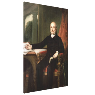 JOHN QUINCY ADAMS by George Peter Alexander Healy Canvas Print