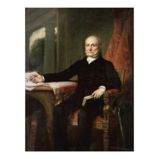 JOHN QUINCY ADAMS by George Peter Alexander Healy Poster
