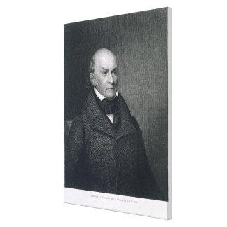John Quincy Adams, engraved by John Wesley Paradis Canvas Print