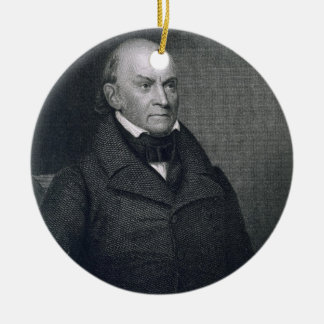 John Quincy Adams, engraved by John Wesley Paradis Ceramic Ornament