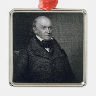 John Quincy Adams, engraved by John Wesley Paradis Metal Ornament