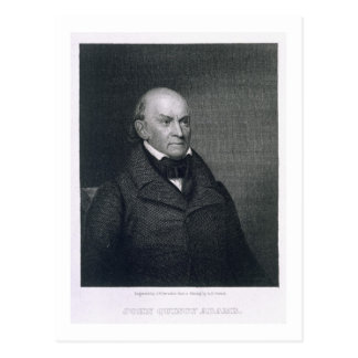 John Quincy Adams, engraved by John Wesley Paradis Postcard