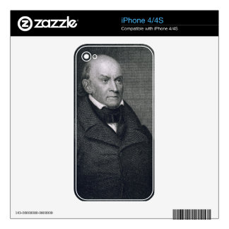 John Quincy Adams, engraved by John Wesley Paradis Skin For The iPhone 4