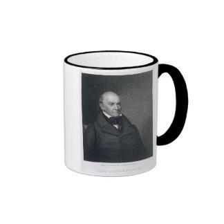 John Quincy Adams, grabado por John Wesley Paradis Tazas