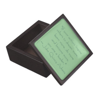 John Quincy Adams Leadership Quote Gift Box