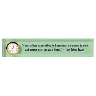 John Quincy Adams Leadership Quote Nameplate