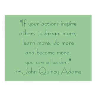 John Quincy Adams Leadership Quote Postcard