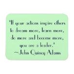 John Quincy Adams Leadership Quote Rectangular Photo Magnet