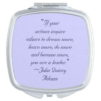 John Quincy Adams Leadership Quote Vanity Mirror