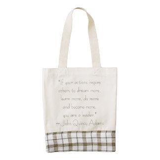 John Quincy Adams Leadership Quote Zazzle HEART Tote Bag