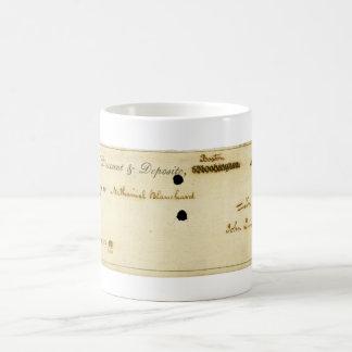 John Quincy Adams ORIGINAL Signed Check Coffee Mug