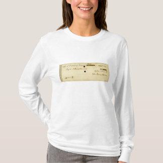 John Quincy Adams ORIGINAL Signed Check T-Shirt