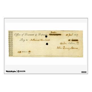 John Quincy Adams ORIGINAL Signed Check Room Stickers