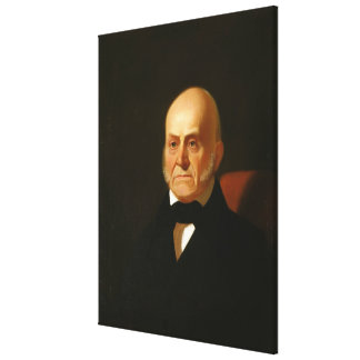 JOHN QUINCY ADAMS Portrait by George Caleb Bingham Canvas Print