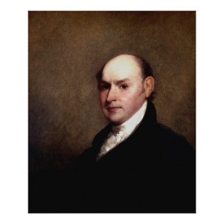 JOHN QUINCY ADAMS Portrait by Gilbert Stuart Print