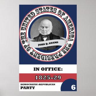 John Quincy Adams Presidential History Poster
