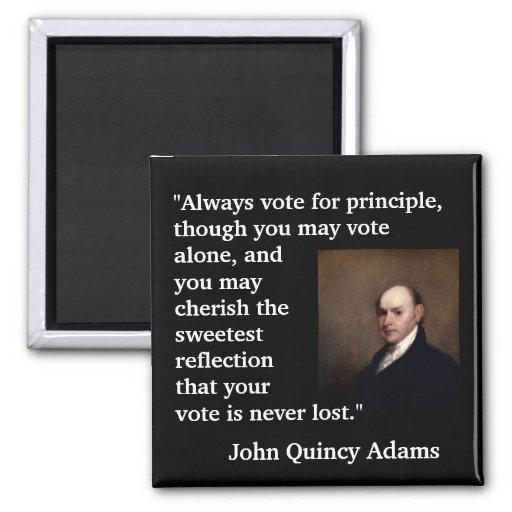 John Quincy Adams Vote Quote