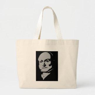 John Quincy Adams silhouette Large Tote Bag