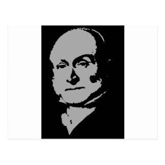 John Quincy Adams silhouette Postcard