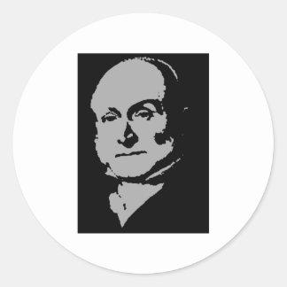 John Quincy Adams silhouette Round Stickers