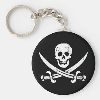 John Rackham (Calico Jack) Pirate Flag Jolly Roger Basic Round Button Keychain