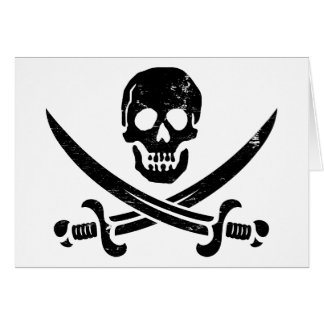 John Rackham (Calico Jack) Pirate Flag Jolly Roger Card