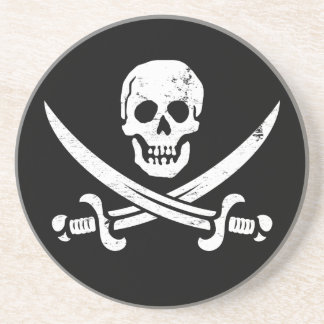 John Rackham (Calico Jack) Pirate Flag Jolly Roger Drink Coaster