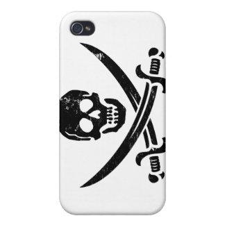 John Rackham (Calico Jack) Pirate Flag Jolly Roger iPhone 4/4S Cases