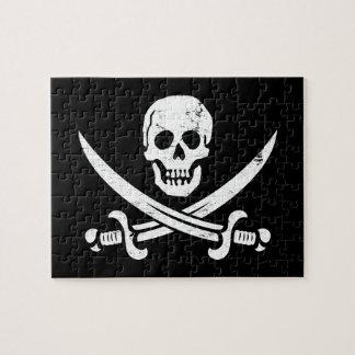 John Rackham (Calico Jack) Pirate Flag Jolly Roger Jigsaw Puzzle
