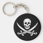 John Rackham (Calico Jack) Pirate Flag Jolly Roger Key Chains
