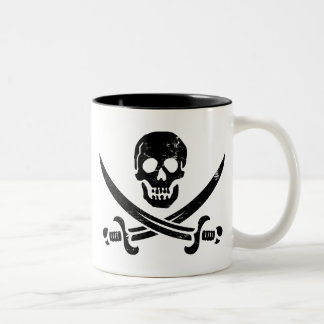 John Rackham (Calico Jack) Pirate Flag Jolly Roger Two-Tone Coffee Mug