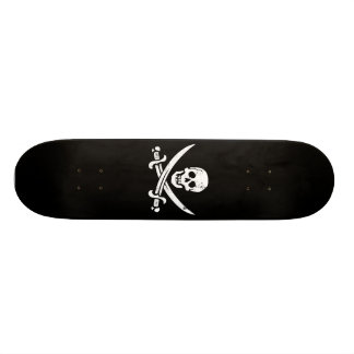 John Rackham (Calico Jack) Pirate Flag Jolly Roger Skateboard