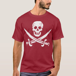 John Rackham (Calico Jack) Pirate Flag Jolly Roger T-Shirt