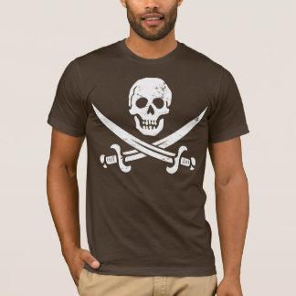 John Rackham (Calico Jack) Pirate Flag Jolly Roger T-Shirt