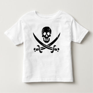 John Rackham (Calico Jack) Pirate Flag Jolly Roger Toddler T-shirt