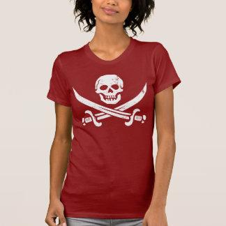 John Rackham (Calico Jack) Pirate Flag Jolly Roger Tshirt