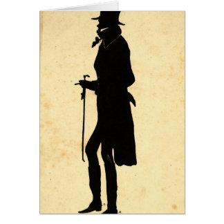 John Randolph Silhouette 1830 Card