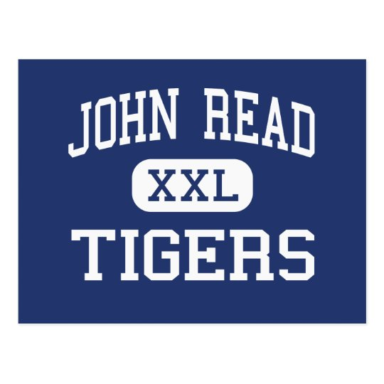 John Read Tigers Middle West Redding Postcard