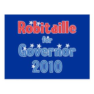 John Robitaille for Governor 2010 Star Design Postcard