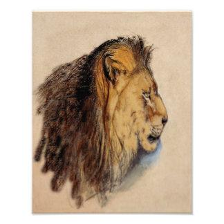 "John Ruskin ""Lion's Head"" 1869 Reproduction Print Photo Art"