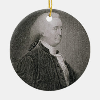 John Rutledge (1739-1800), engraved by G.F. Storm Double-Sided Ceramic Round Christmas Ornament